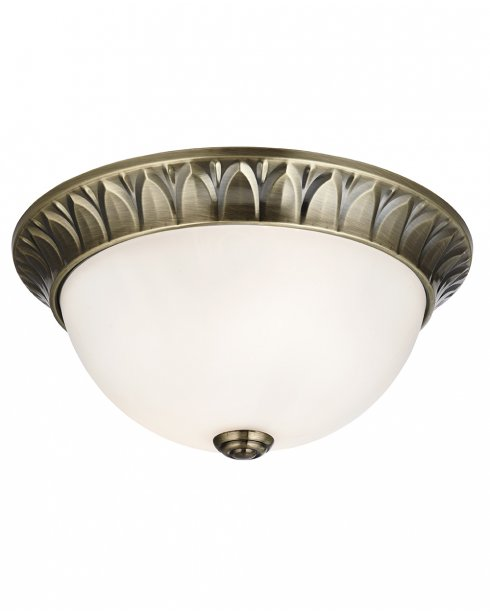 Searchlight 4148-28AB 2 Light Traditional Flush Ceiling Fitting