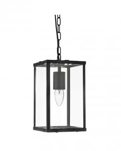 Searchlight 4241BK Single Light Traditional Pendant Light