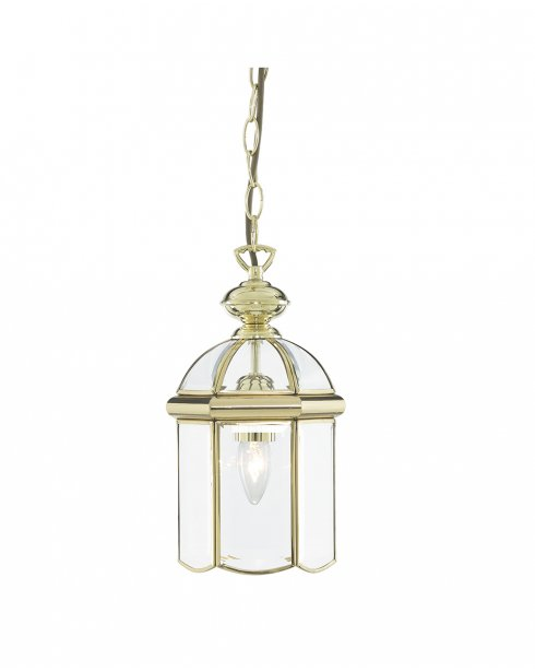 Searchlight 5131PB Single Light Traditional Pendant Light