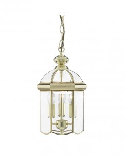 Searchlight 5133PB 3 Light Traditional Pendant Light