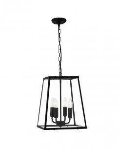 Searchlight 5614BK Single Light Traditional Pendant Light