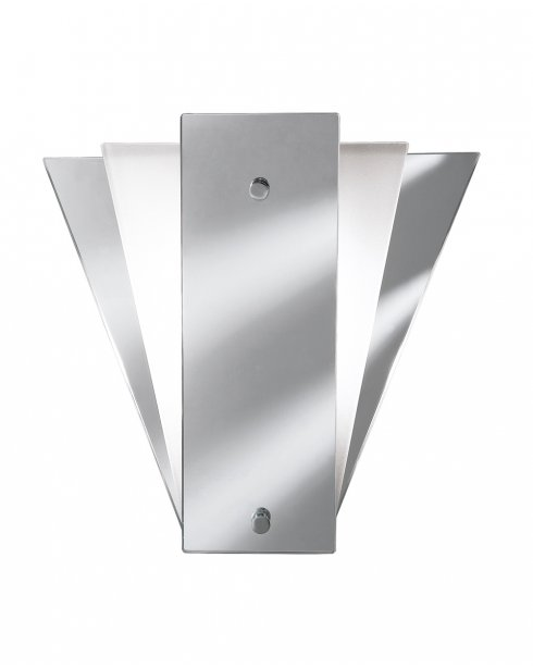 Searchlight 6201 Single Light Fan Mirrored Wall Light