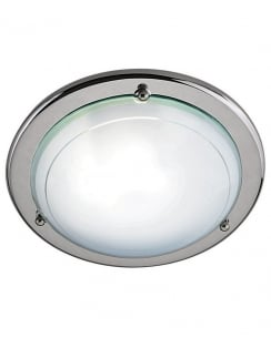 Searchlight 702CC Modern Chrome Flush Ceiling Fitting