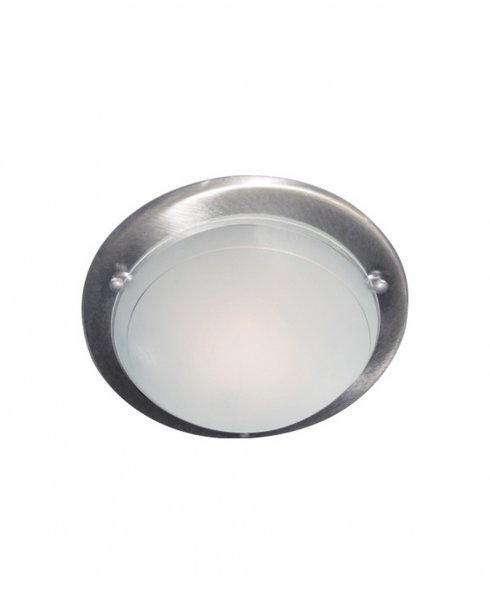 Searchlight 702SS Single Light Modern Flush Ceiling Fitting