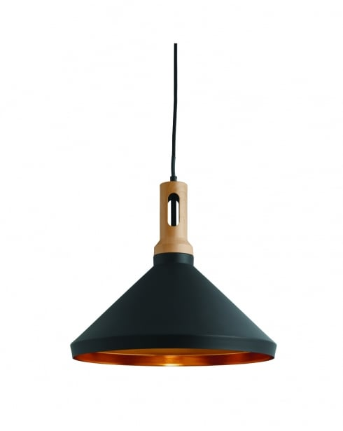 Searchlight 7051BK Modern Stained Pendant Light
