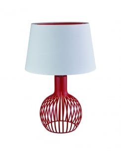 Searchlight 7381RE Modern Red Incidental Table Lamp