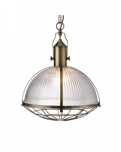 Searchlight 7601AB Single Light Modern Pendant Light
