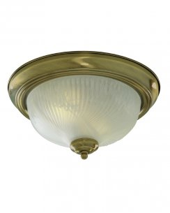 Searchlight 7622-11AB 2 Light Traditional Flush Ceiling Fitting