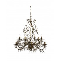 Searchlight Almandite 12 Light Traditional Chandelier 24912-12BR