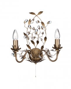 Searchlight Almandite 2 Light Traditional Decorative Wall Light 2492-2BR