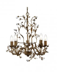 Searchlight Almandite 5 Light Traditional Chandelier 2495-5BR