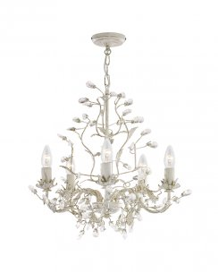 Searchlight Almandite 5 Light Traditional Chandelier 2495-5CR