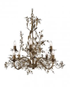 Searchlight Almandite 8 Light Traditional Chandelier 2498-8BR