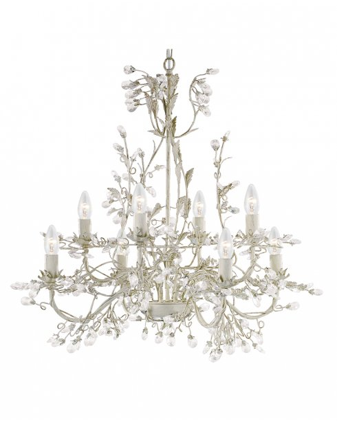 Searchlight Almandite 8 Light Traditional Chandelier 2498-8CR