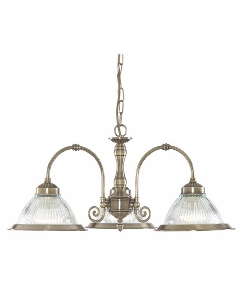 Searchlight American Diner 3 Light Modern Multi-Arm Pendant 9343-3
