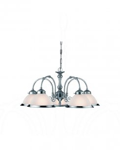 Searchlight American Diner 5 Light Traditional Multi-Arm Pendant 1045-5