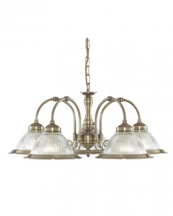 Searchlight American Diner 5 Light Traditional Multi-Arm Pendant 9345-5
