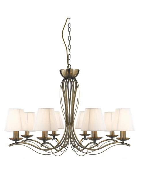 Searchlight Andretti 8 Light Traditional Multi-Arm Pendant 9828-8AB