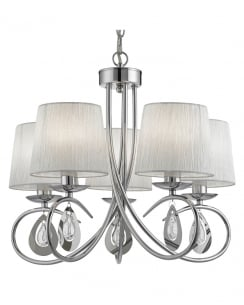 Searchlight Angelique Traditional Chrome Multi-Arm Pendant 1025-5CC