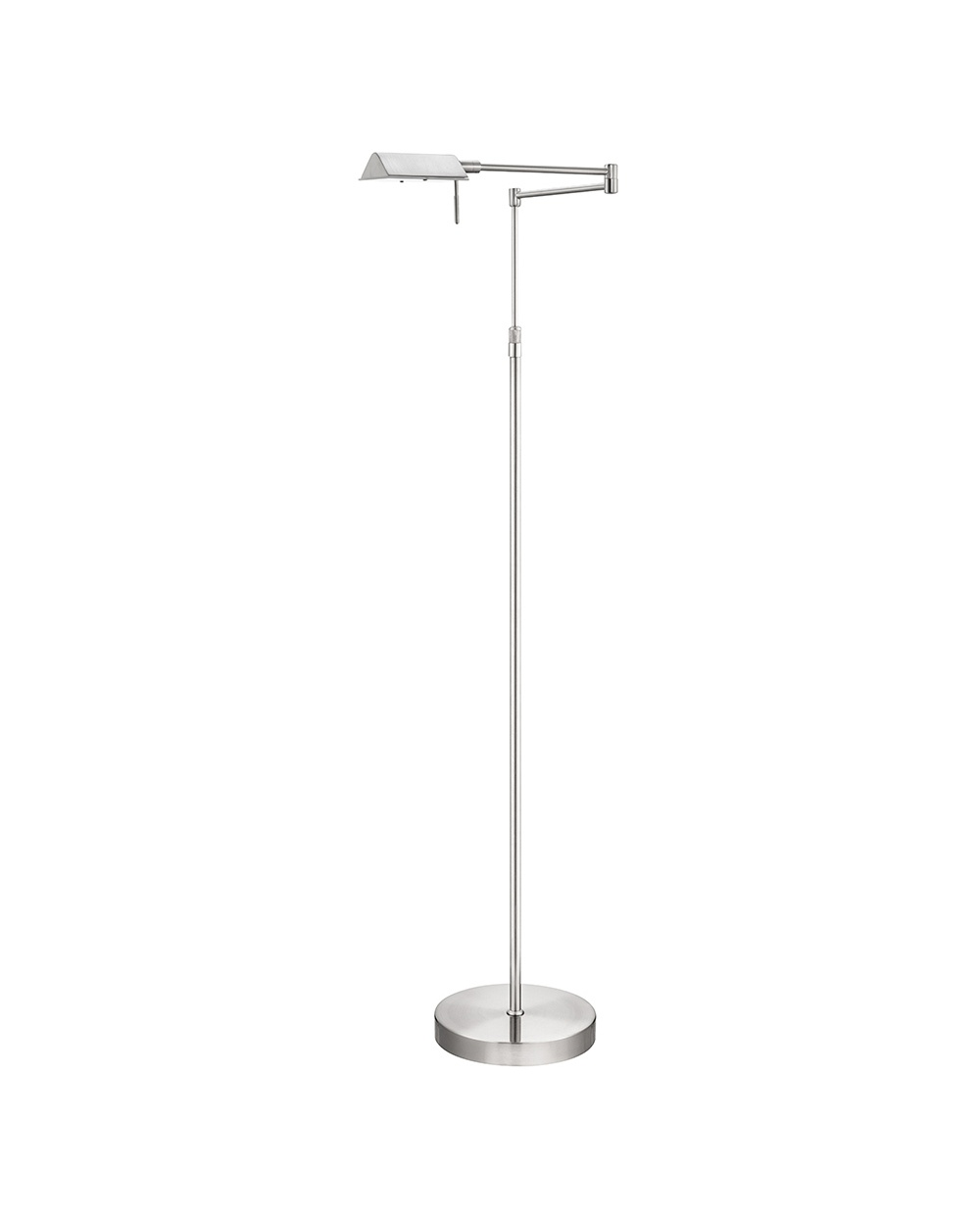 Searchlight 4665ss apothecary 1 light in brushed steel for Floor standing reading lamp uk