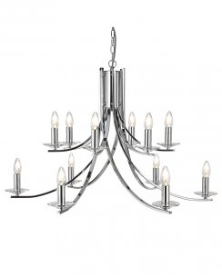 Searchlight Ascona 12 Light Modern Chandelier 41612-12CC