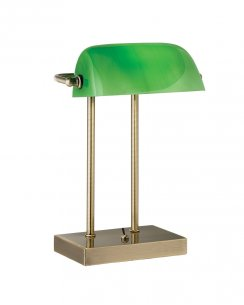 Searchlight Bankers Single Light Traditional Desk Lamp 1200AB