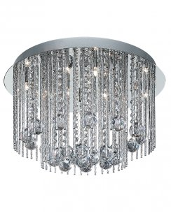 Searchlight Beatrix 8 Light Crystal Flush Ceiling Fitting 8088-8CC