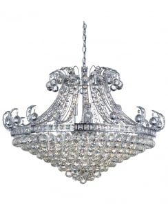 Searchlight Bloomsbury Crystal Clear Pendant Light 5048-8CC