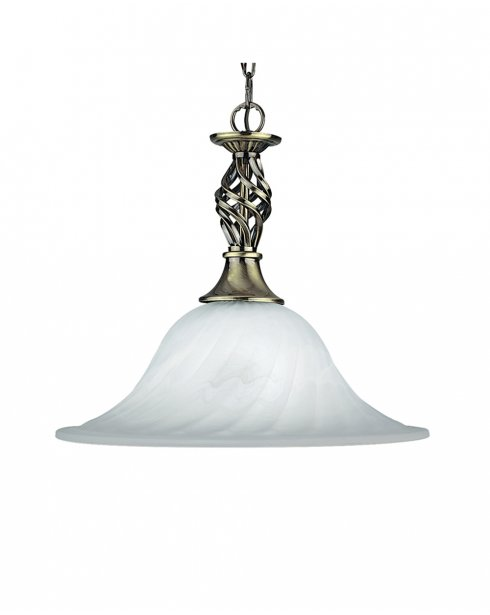 Searchlight Cameroon Single Light Traditional Pendant Light 4581-14AB