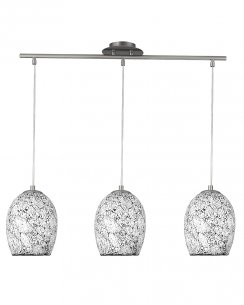 Searchlight Crackle 3 Light Modern Pendant Light 8069-3WH