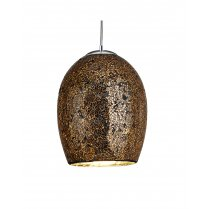 Searchlight Crackle Single Light Modern Pendant Light 8069BZ