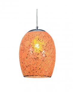 Searchlight Crackle Single Light Modern Pendant Light 8069OR
