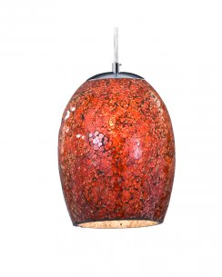 Searchlight Crackle Single Light Modern Pendant Light 8069RE