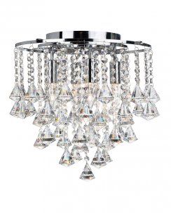 Searchlight Dorchester 4 Light Crystal semi-flush Ceiling Fitting 3494-4CC