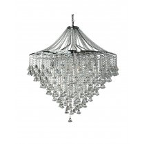 Searchlight Dorchester 7 Light Crystal Pendant Light 3497-7CC