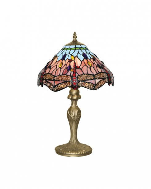Searchlight Dragonfly Single Light Tiffany Incidental Table Lamp 1287