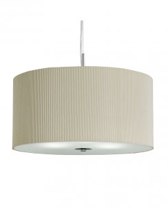 Searchlight Drum Pleat 3 Light Modern Pendant Light 2353-40CR