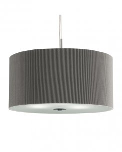 Searchlight Drum Pleat 3 Light Modern Pendant Light 2353-40SI