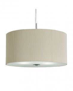 Searchlight Drum Pleat 3 Light Modern Pendant Light 2356-60CR