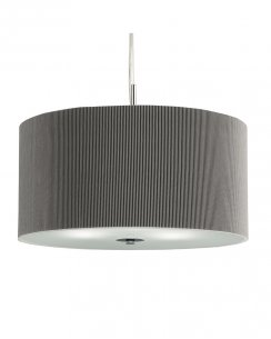 Searchlight Drum Pleat 3 Light Modern Pendant Light 2356-60SI