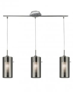 Searchlight Duo 2 3 Light Modern Pendant Light 3303-3SM