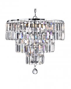 Searchlight Empire 5 Light Crystal Pendant Light 1375-5CC