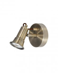 Searchlight Eros Single Light Modern Wall Mounted Spotlight 1221AB
