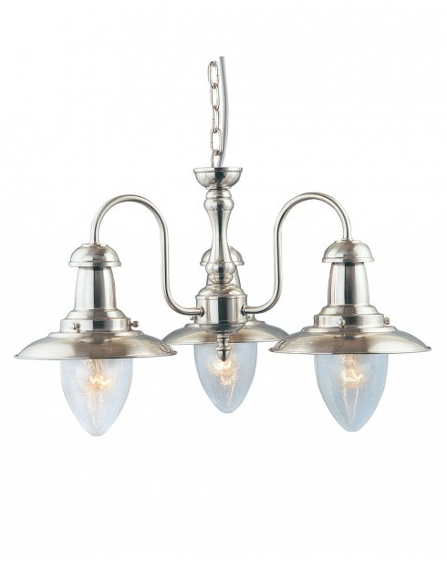 Searchlight Fisherman 3 Light Traditional Multi-Arm Pendant 5333-3SS