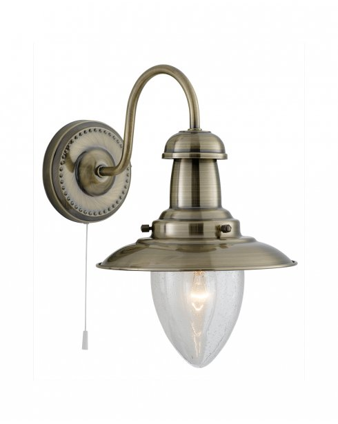Searchlight Fisherman Single Light Traditional Decorative Wall Light 5331-1AB
