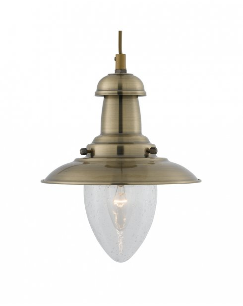 Searchlight Fisherman Single Light Traditional Pendant Light 5787AB