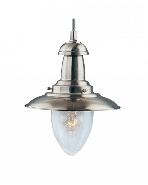 Searchlight Fisherman Single Light Traditional Pendant Light 5787SS