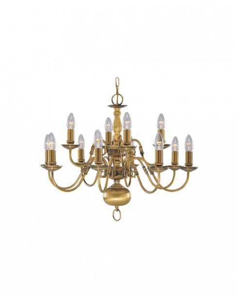 Searchlight Flemish 12 Light Traditional Chandelier 1019-12AB