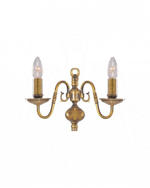 Searchlight Flemish 2 Light Traditional Decorative Wall Light 1019-2AB