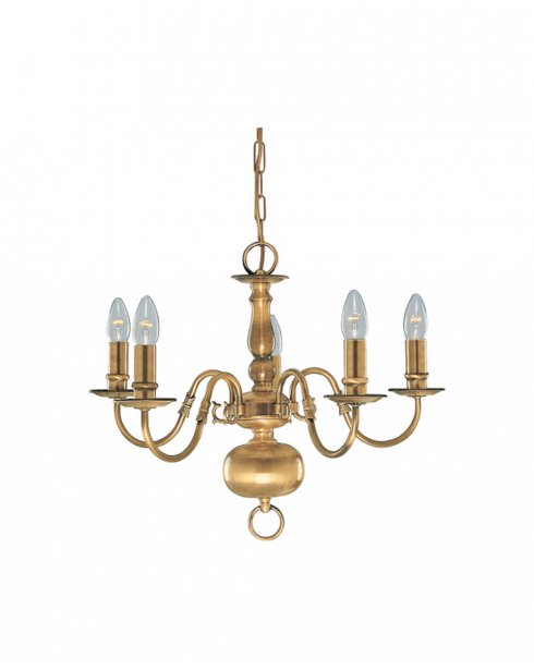 Searchlight Flemish 5 Light Traditional Chandelier 1019-5AB